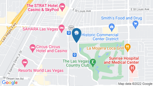 Hilton Grand Vacations on Paradise (Convention Center) Map