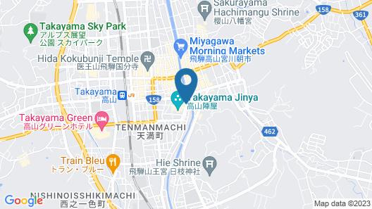 Honjin Hiranoya Bekkan Map
