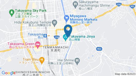 Honjin Hiranoya Kachoan Map