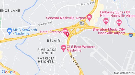 Hotel Preston Map