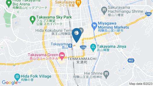 Best Western Hotel Takayama Map