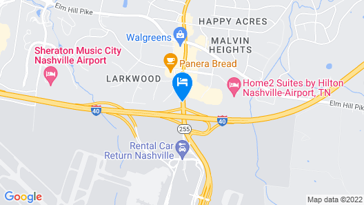 Country Inn & Suites by Radisson, Nashville Airport, TN Map