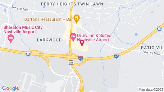 Holiday Inn Express Nashville Airport, an IHG Hotel Map