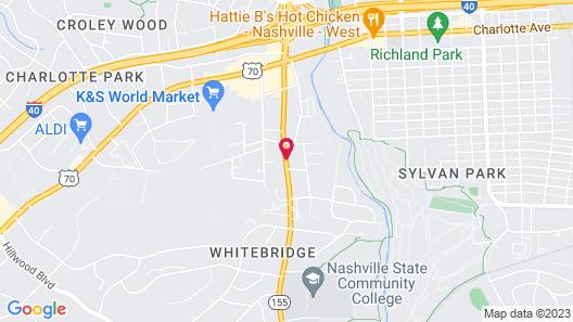 Days Inn by Wyndham Nashville Saint Thomas West Hospital Map