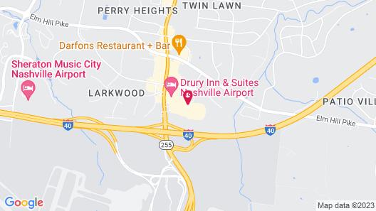Radisson Hotel Nashville Airport Map