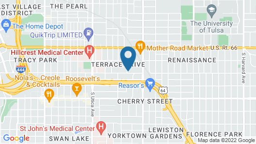 Blue Bungalow- Pet friendly, close to Expo Center, downtown, hospitals Map