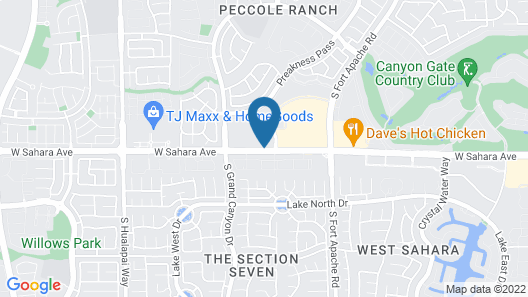 La Quinta Inn & Suites by Wyndham Las Vegas Red Rock Map