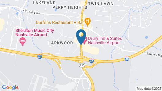 Drury Inn & Suites Nashville Airport Map
