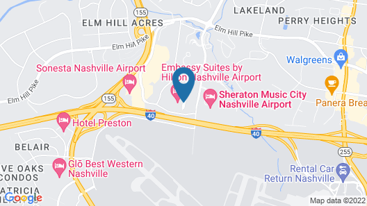 Embassy Suites Hotel Nashville - Airport Map