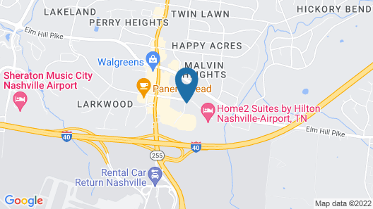 Four Points by Sheraton Nashville Airport Map