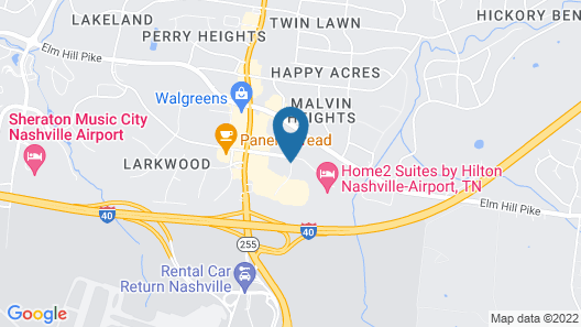 SpringHill Suites By Marriott Nashville Airport Map