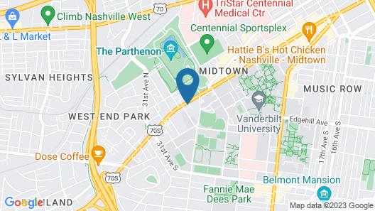 Holiday Inn Nashville - Vanderbilt - Dwtn, an IHG Hotel Map