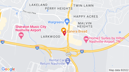 Red Roof Inn PLUS+ Nashville Airport Map