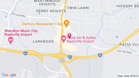 Hyatt Place Nashville Airport Map