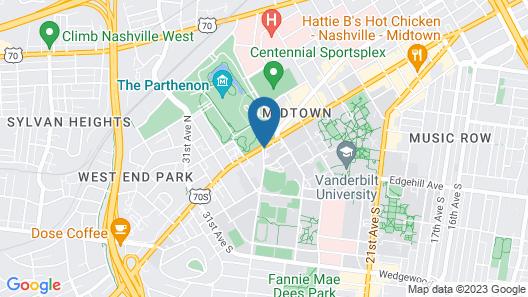 Nashville Marriott at Vanderbilt University Map