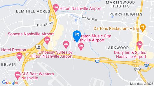 Sheraton Music City Nashville Airport Map
