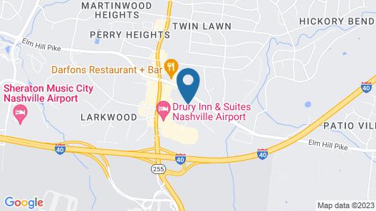 Best Western Plus Nashville Airport Hotel Map