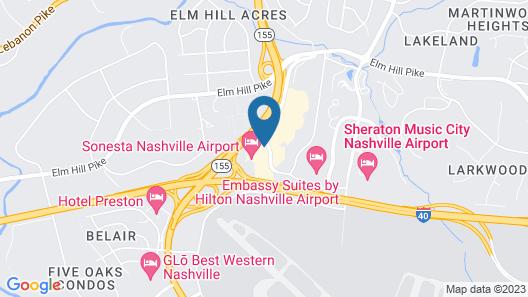 Sonesta Nashville Airport Map