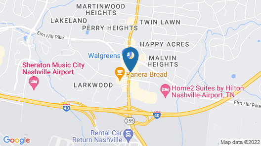 La Quinta Inn & Suites by Wyndham Nashville Airport Map