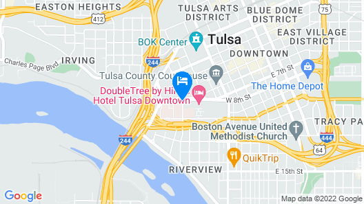 Best Western Plus Downtown Tulsa/Route 66 Map