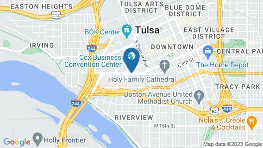 DoubleTree by Hilton Tulsa Downtown Map