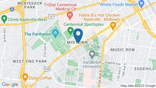 Homewood Suites by Hilton Nashville Vanderbilt, TN Map