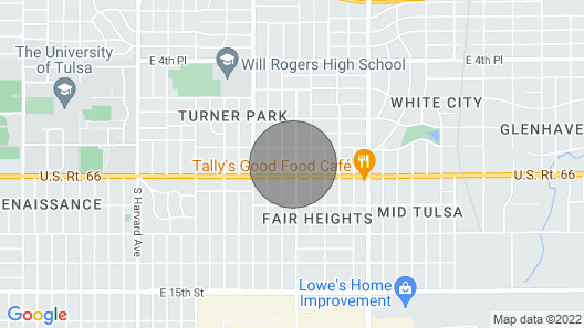 Gorgeous Remodel - 1 Mile to TU and Expo Square Map