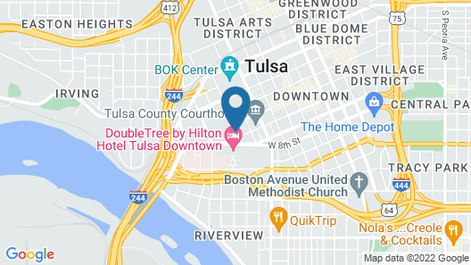 Aloft Tulsa Downtown Map