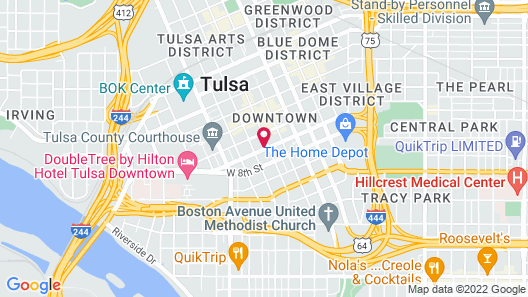 Holiday Inn - Tulsa City Center, an IHG Hotel Map