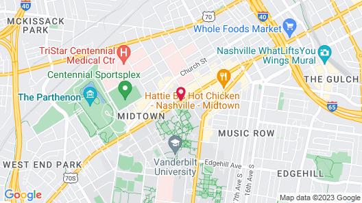 Loews Vanderbilt Hotel Map