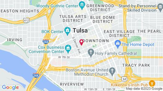 Residence Inn by Marriott Tulsa Downtown Map