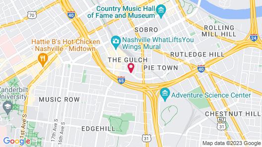 Fairfield Inn & Suites Nashville Downtown/The Gulch Map