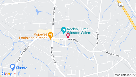 HomeTowne Studios by Red Roof Winston-Salem - University Pkwy Map