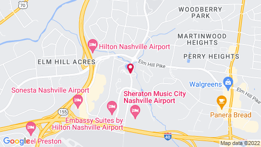 Extended Stay America - Nashville - Airport - Music City Map
