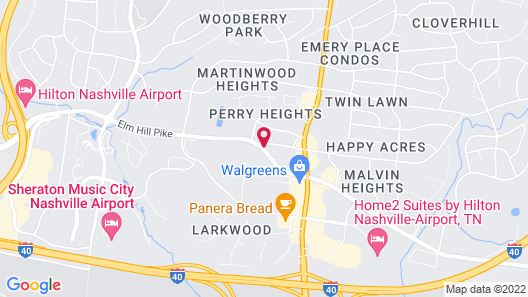 TownePlace Suites by Marriott Nashville Airport Map