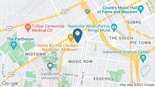 Home2 Suites by Hilton Nashville Vanderbilt Map