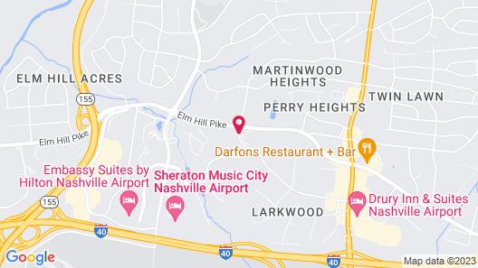 Hilton Garden Inn Nashville Airport Map