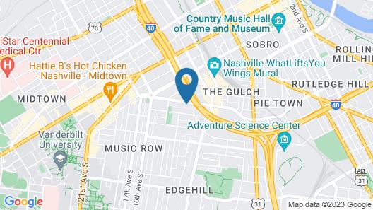 Locale Nashville - Music Row  Map