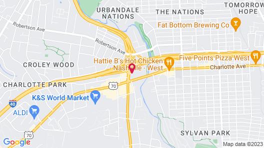 Comfort Inn Nashville West Map