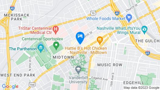 Hyatt House Nashville at Vanderbilt Map