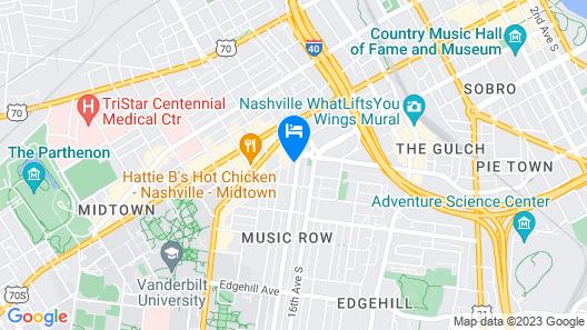 Virgin Hotels Nashville Map