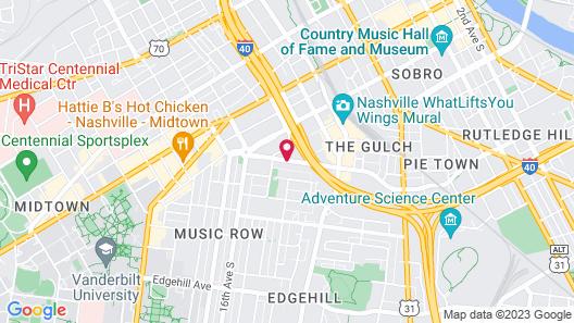 Best Western Plus Music Row Map