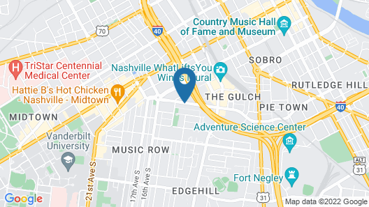Best Western Plus Music Row Map