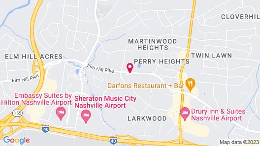 Quality Suites Nashville Airport Map