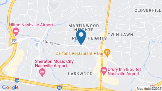 Homewood Suites by Hilton Nashville Airport Map