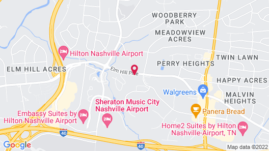 Extended Stay America Suites Nashville Airport Map