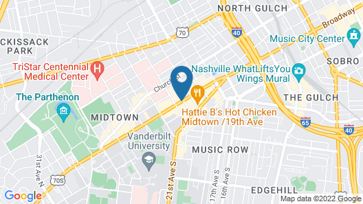 Hampton Inn Nashville/Vanderbilt Map