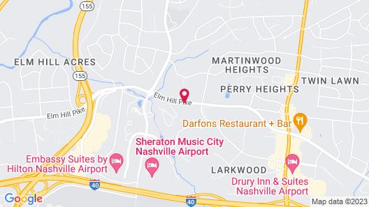 Comfort Suites Airport Map