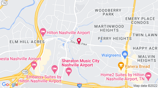 Extended Stay America Suites Nashville Airport Elm Hill Pike Map