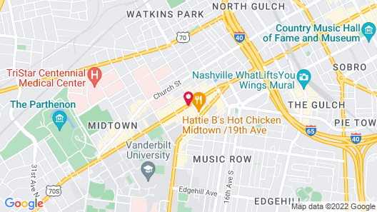 Courtyard By Marriott Vanderbilt-West End Map